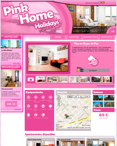 Ed montells pink home holidays webs for Paginas de inmuebles